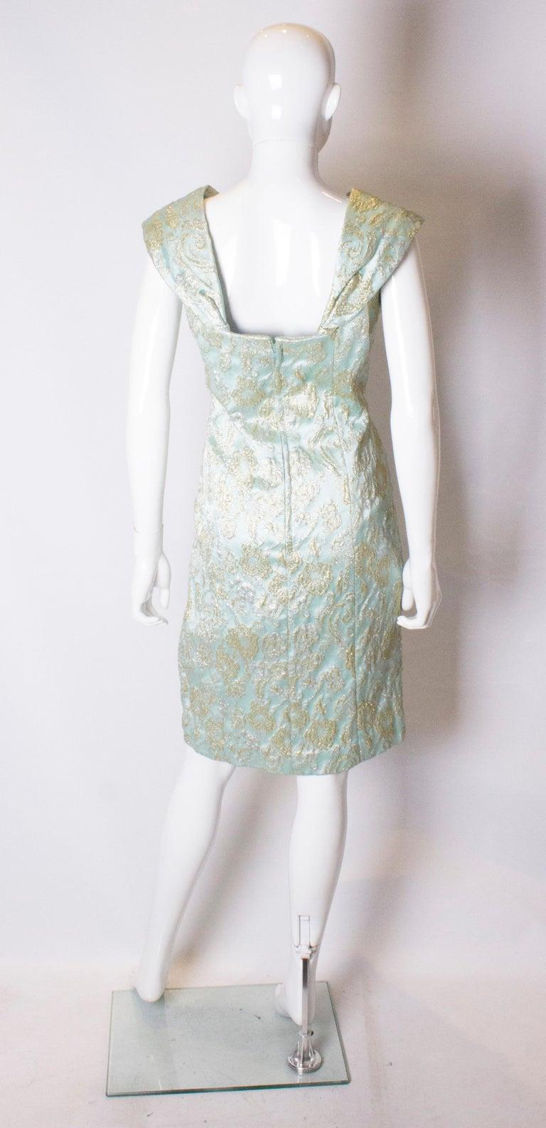 Vintage Blue Cocktail Dress For Sale 1