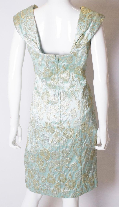 Vintage Blue Cocktail Dress For Sale 2