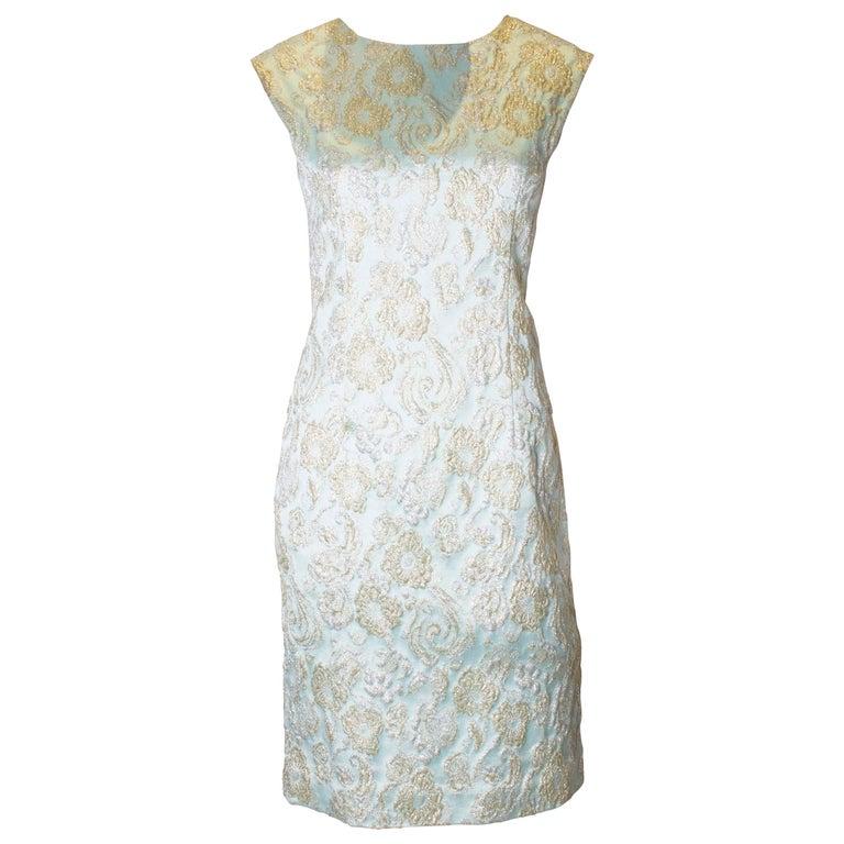 Vintage Blue Cocktail Dress For Sale