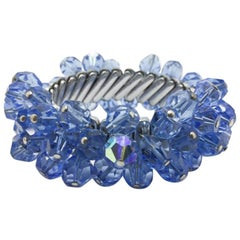 Vintage Blue Crystal Cha Cha Bracelet 1950S