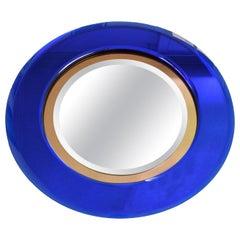 Vintage Blue Crystal Mirror - Italian Manufacture - 1960s