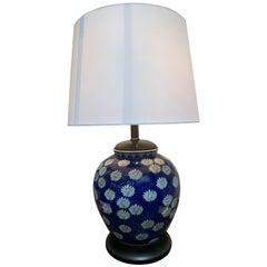 Vintage Blue Ginger Jar Table Lamp