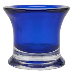 Vintage Blue Glass Vase, Italy, 1970s