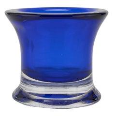 Vintage Blue Glass Vase, Italy, 1970s