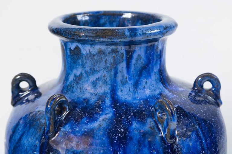 Vintage Blue Glazed Garden Urn For Sale 5