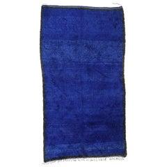Vintage Blue Indigo Beni M'Guild Moroccan Rug with Tribal Style, Blue Berber Rug