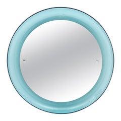 Vintage Blue Lucite Mirror