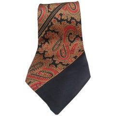 Vintage blue multicoloured silk tie