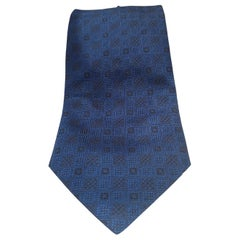 Vintage blue multicoloured tie