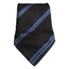Vintage blue multicoloured tie