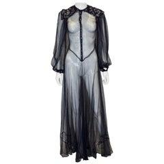 Vintage Blue Net Gown