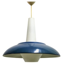 Vintage Blue Pendant Light by Philips, 1960s