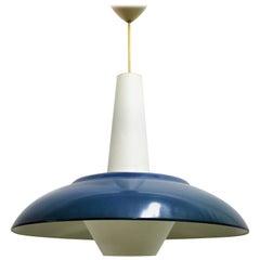 Vintage blaue Pendelleuchte von Philips, 1960er Jahre