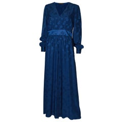 Vintage Blue  Silk Gown by Catherine Gerbhardt