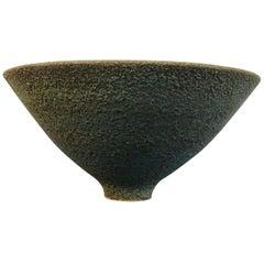 Vintage Blue Textured Studio Pottery Bowl