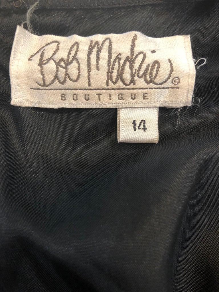Vintage Bob Mackie Size 14 Black Velvet 1990s Sleeveless Sweetheart 90s Gown For Sale 10