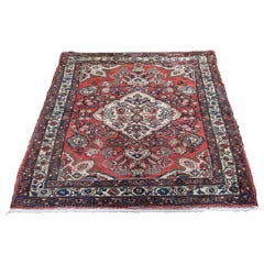 Vintage Bohemian Persian Mahal Pure Wool Hand Knotted Oriental Rug