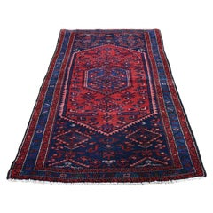 Vintage Bohimian Persian Mosel Pure Wool Hand Knotted Oriental Rug