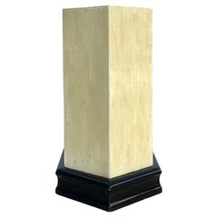 Vintage Boho Tessellated Bone Pedestal