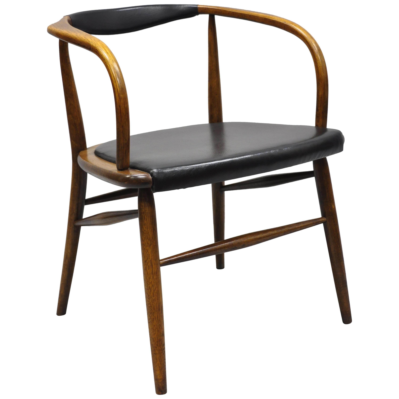 Vintage Boling Chair Co. Mid-Century Modern Oak Barrel Back Danish Modern Chair