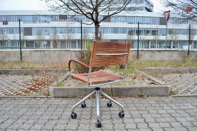 Vintage Bonacina Miss B Classic Wheels Office Chair by Tito Agnoli For Sale 5