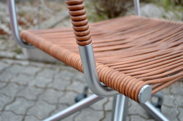 Vintage Bonacina Miss B Classic Wheels Office Chair by Tito Agnoli For Sale 6