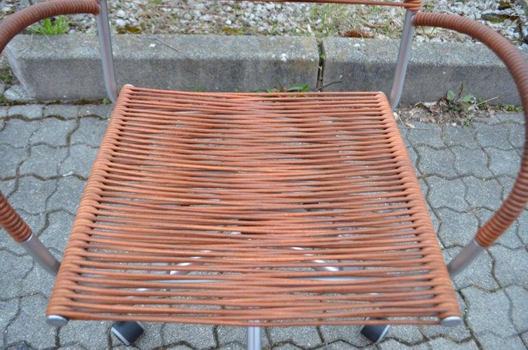 Vintage Bonacina Miss B Classic Wheels Office Chair by Tito Agnoli For Sale 7