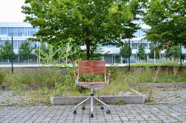 Modern Vintage Bonacina Miss B Classic Wheels Office Chair by Tito Agnoli For Sale