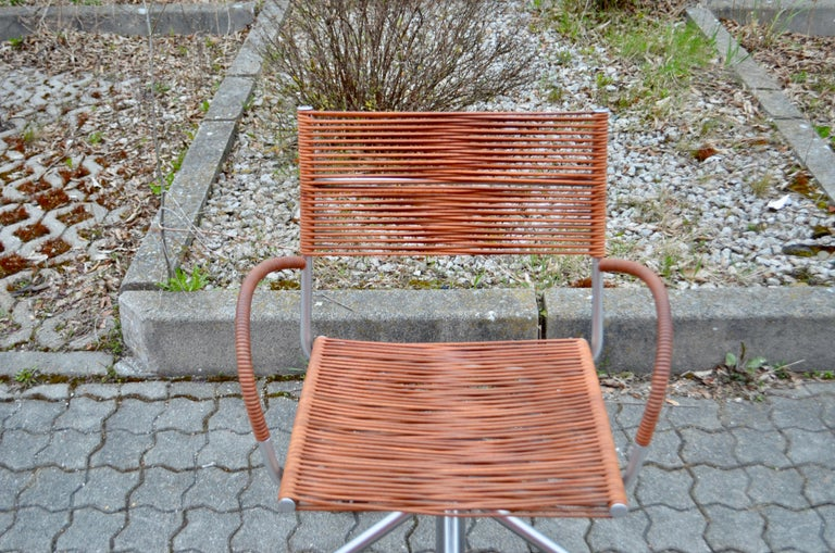 Steel Vintage Bonacina Miss B Classic Wheels Office Chair by Tito Agnoli For Sale