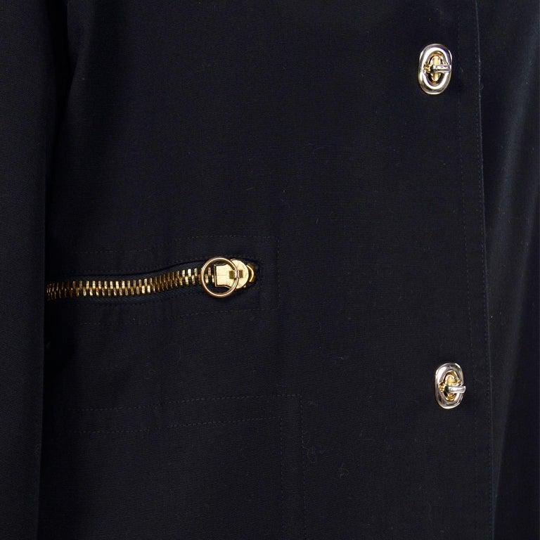Vintage Bonnie Cashin All Black Coat with Cashmere Blend Lining For Sale 6