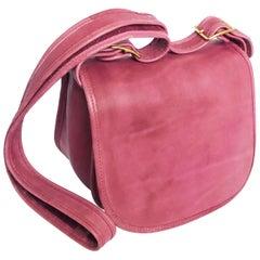 Vintage Bonnie Cashin Coach Bag Messenger Shoulder Bag Rose Pink Leather Rare