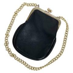 Vintage Bonnie Cashin Coach Evening Bag Leather 60s Cashin Carry Kiss Lock