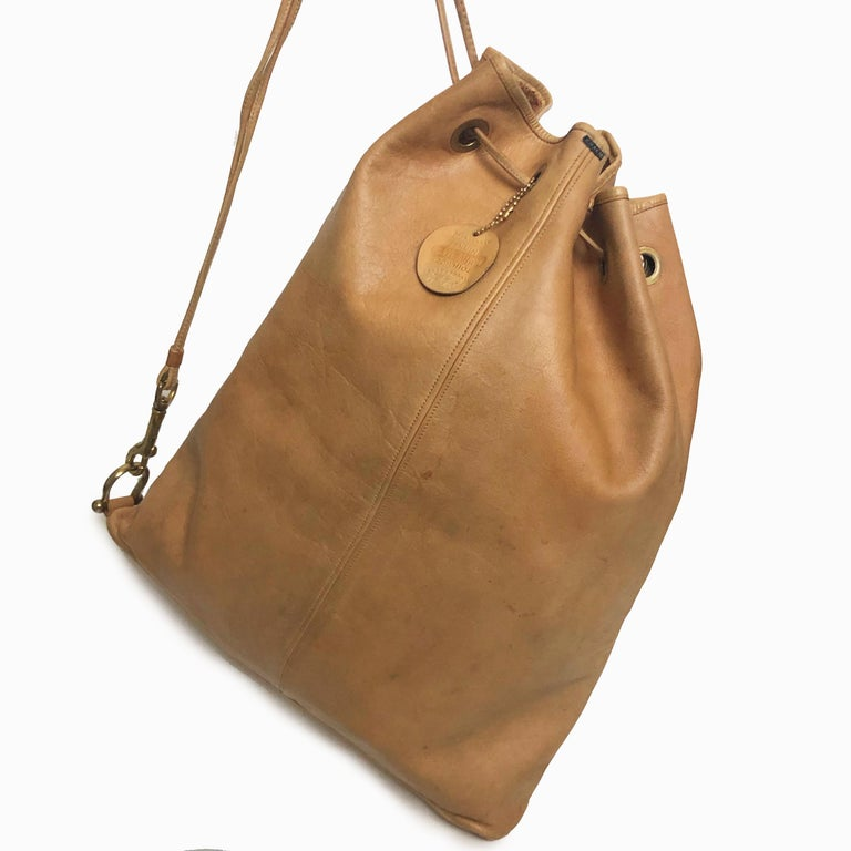 Vintage Bonnie Cashin Coach NYC Drawstring Sling Bag Pre Creed with Baseball Tag In Good Condition For Sale In Port Saint Lucie, FL