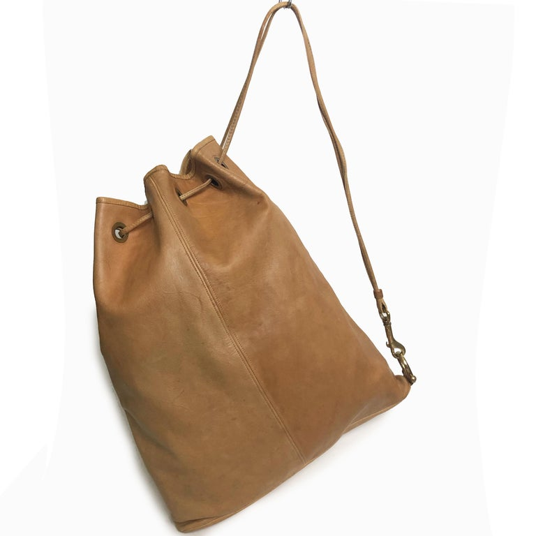 Women's or Men's Vintage Bonnie Cashin Coach NYC Drawstring Sling Bag Pre Creed with Baseball Tag For Sale