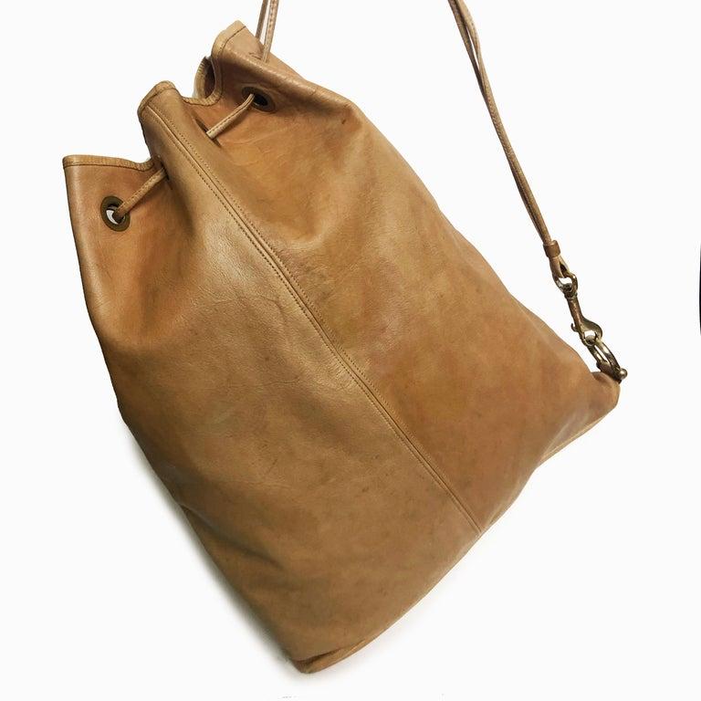 Vintage Bonnie Cashin Coach NYC Drawstring Sling Bag Pre Creed with Baseball Tag For Sale 1
