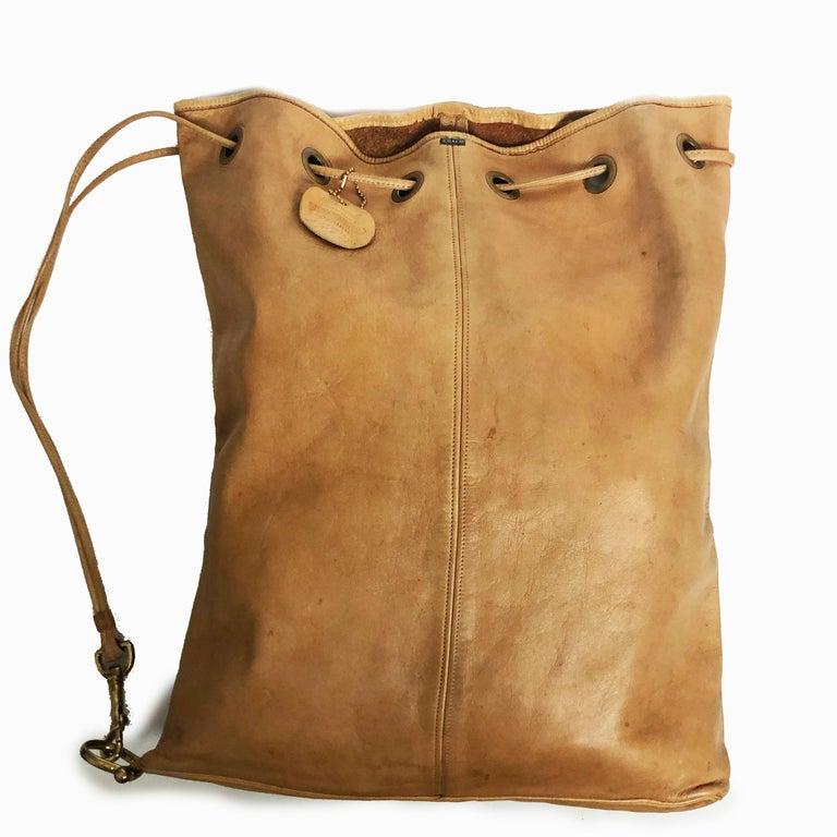 Vintage Bonnie Cashin Coach NYC Drawstring Sling Bag Pre Creed with Baseball Tag For Sale 2