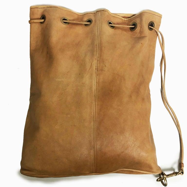 Vintage Bonnie Cashin Coach NYC Drawstring Sling Bag Pre Creed with Baseball Tag For Sale 3