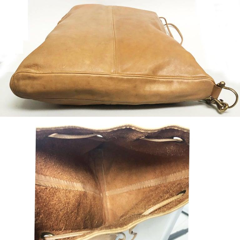 Vintage Bonnie Cashin Coach NYC Drawstring Sling Bag Pre Creed with Baseball Tag For Sale 4