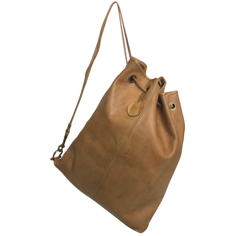 Vintage Bonnie Cashin Coach NYC Drawstring Sling Bag Pre Creed with Baseball Tag For Sale