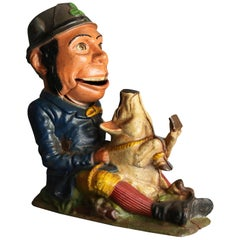 Vintage Book of Knowledge Cast Iron Mechanical Bank, Patty and the Pig