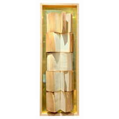Vintage Book Wall Sculpture, Italy, Contemporary