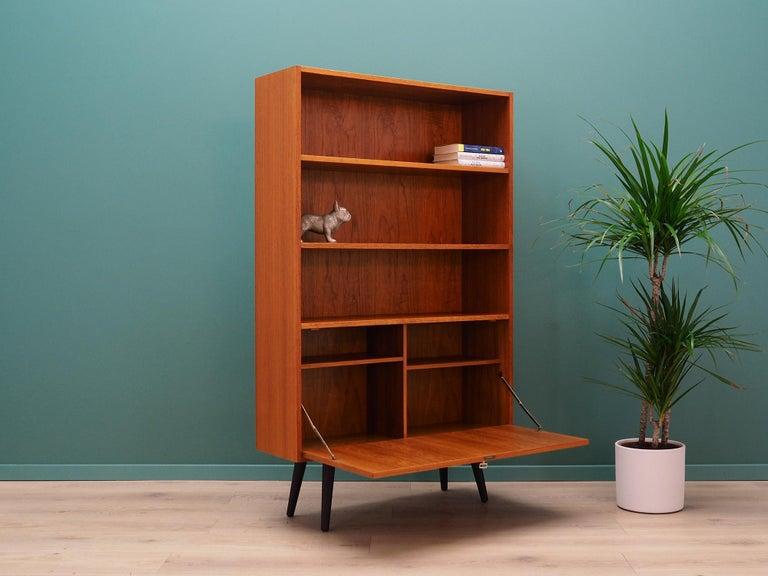 Veneer Vintage Bookcase Teak 1960-1970 Danish Design For Sale