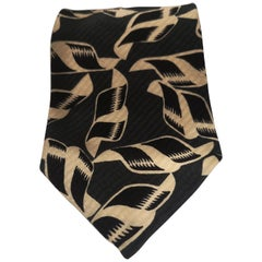 Vintage Boss green white and black silk tie