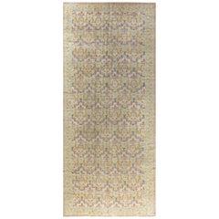 Vintage Botanic Spanish Handwoven Wool Carpet