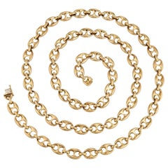 Vintage Boucheron Paris Gold Solid Link Chain Necklace