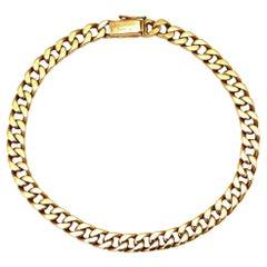 Vintage Boucheron Paris Rose Gold Cuban Link Chain Bracelet