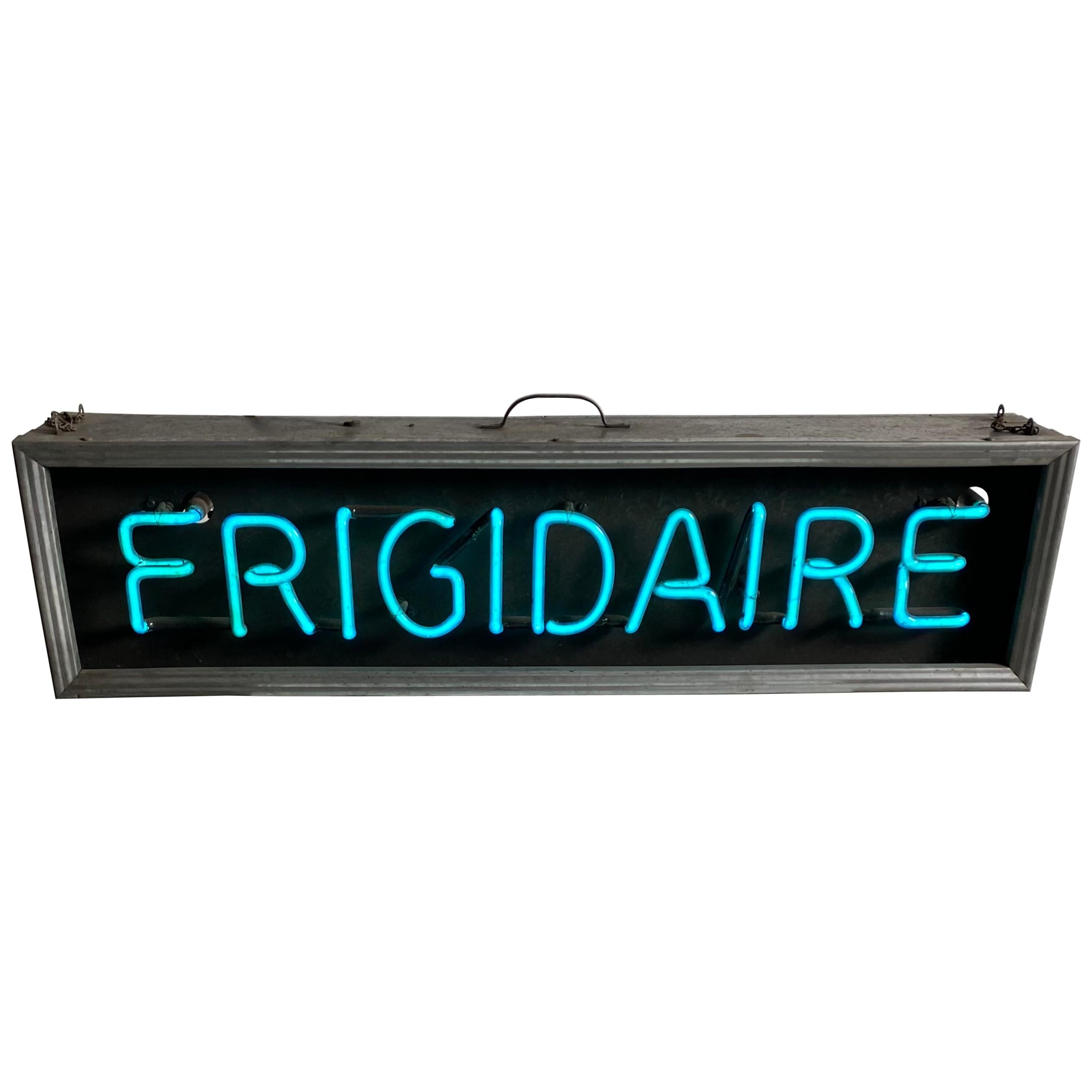 "Vintage Box Neon Sign Classic ""FRIGIDAIRE"" Store Display/ Window Sign"