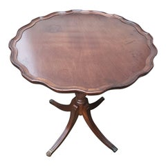 Vintage Brandt Genuine Mahogany Pie Crust Table