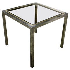Vintage Brass and Chrome Dining Table, 1970s