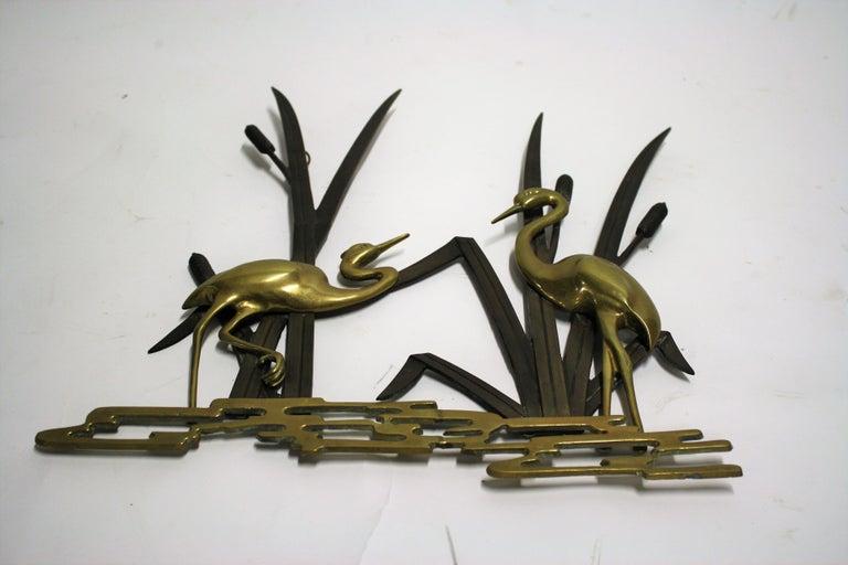 Hollywood Regency Vintage Brass Bird Sculpture, 1970s For Sale